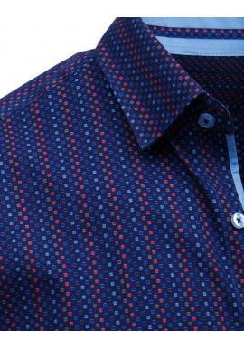 Pánska elegantná košeľa so vzorom v bielej farbe