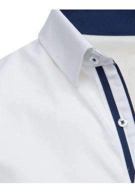 Fialová vzorovaná košeľa s dlhým rukávom pre pánov