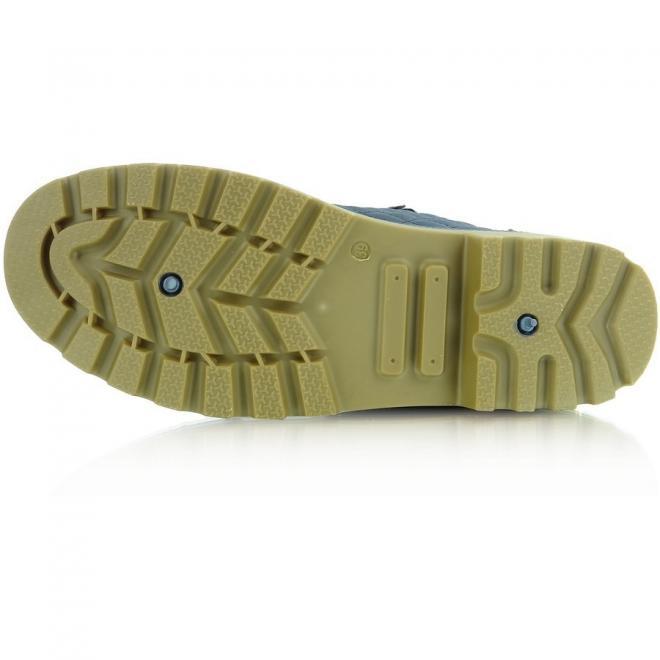 Hnedé prešívané topánky so zlatou dekoráciou