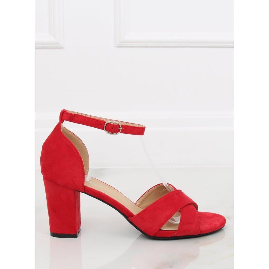 be0c636af Semišové dámske sandále žltej farby na stabilnom opätku. Loading zoom