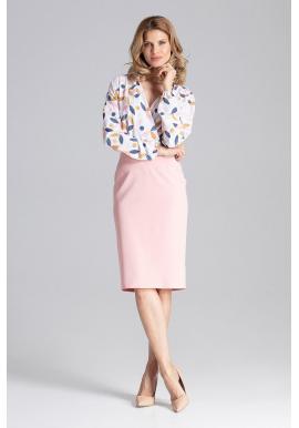 Rozšírená dámska sukňa sivej farby