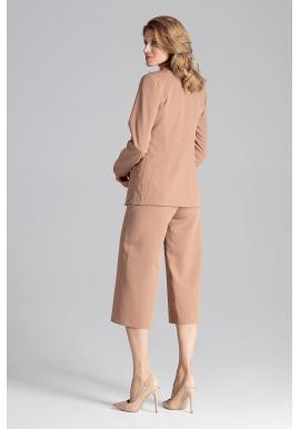 Ružové klasické sako s jedným gombíkom pre dámy