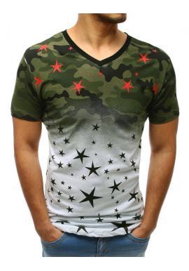 38634c369cb7 Zelené maskáčové tričko s dierami pre pánov ...