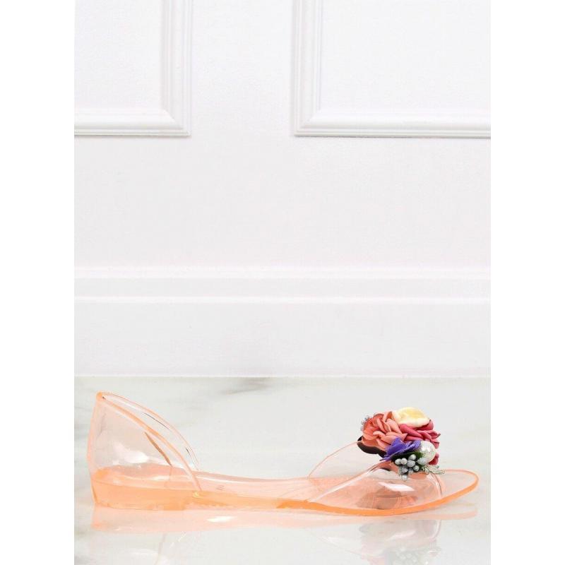 a527cc5e50e9 Ružové gumené balerínky s kvetmi pre dámy - skvelamoda.sk