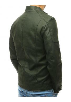 Čierna koženková bunda s odopínateľnou kapucňou pre pánov