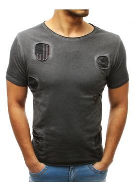 d5a25ccc853fa Štýlové pánske tričko čiernej farby s ozdobnými zipsami ...