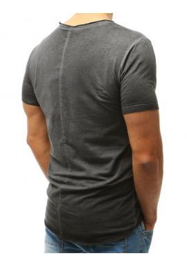 Štýlové pánske tričko čiernej farby s ozdobnými zipsami