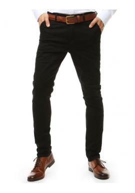 Tmavosivé elegantné nohavice Chinos pre pánov