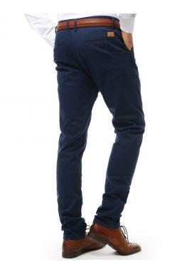 Čierne elegantné nohavice Chinos pre pánov