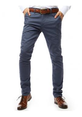 Pánske elegantné nohavice Chinos v modrej farbe