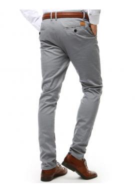 Elegantné pánske nohavice Chinos tmavosivej farby