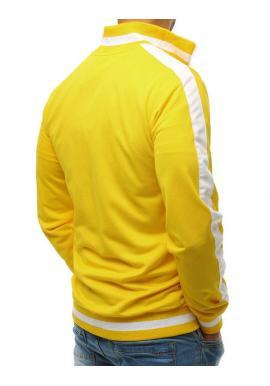 Pánska športová mikina na zips v bielej farbe