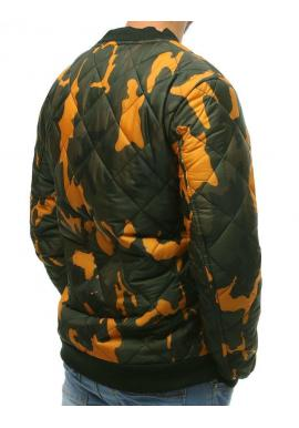 Tmavomodrá prešívaná bunda na prechodné obdobie pre pánov