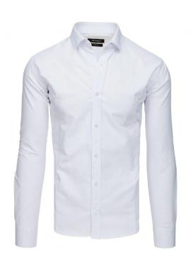 Pánska elegantná košeľa so vzorom v tmavomodrej farbe