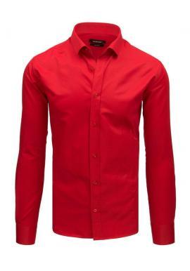 Tmavomodrá elegantná košeľa s dlhým rukávom pre pánov
