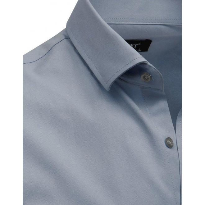e6da3a49a78e Pánske elegantné košele s dlhým rukávom v sivej farbe - skvelamoda.sk