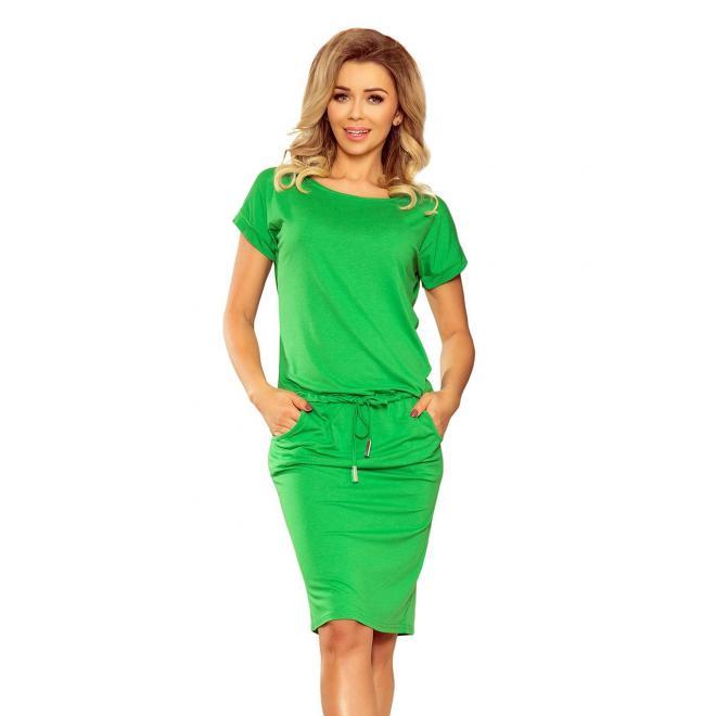 f54d365bf Športové dámske šaty zelenej farby s krátkym rukávom v zľave ...