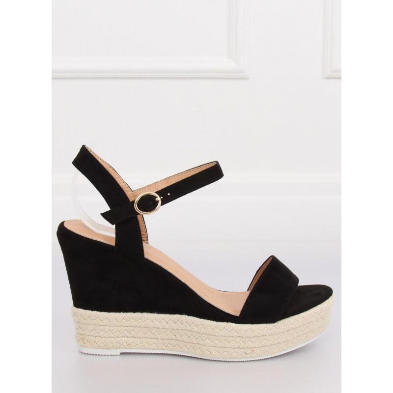 c3e74f17905c Čierne semišové sandále na platforme pre dámy - skvelamoda.sk