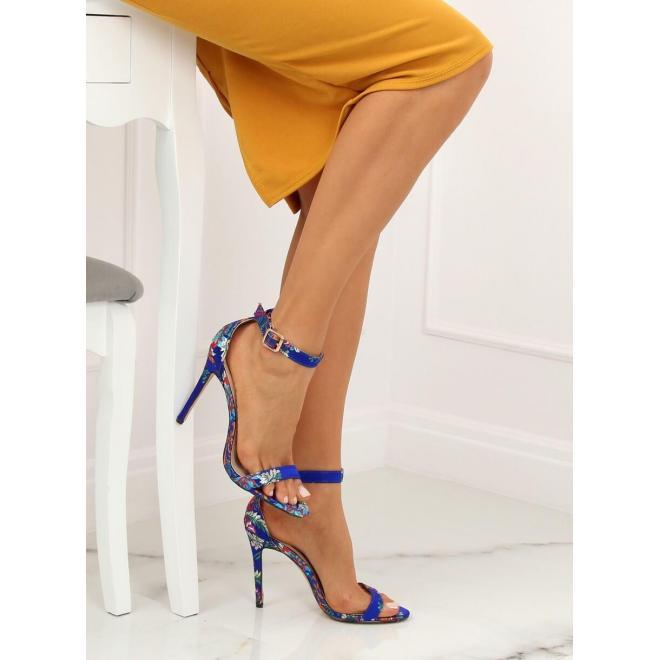 e201f1ccf9 Dámske orientálne sandále na podpätku s výšivkou v čiernej farbe ...