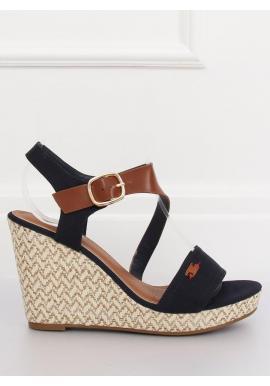 8ee170a69 Dámske módne sandále na pletenej platforme v čiernej farbe ...