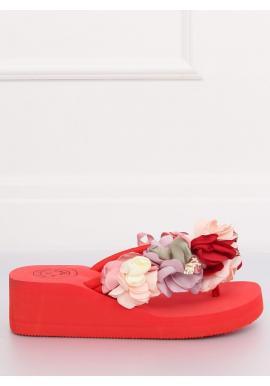 Pohodlné dámske žabky ružovej farby na penovej podrážke