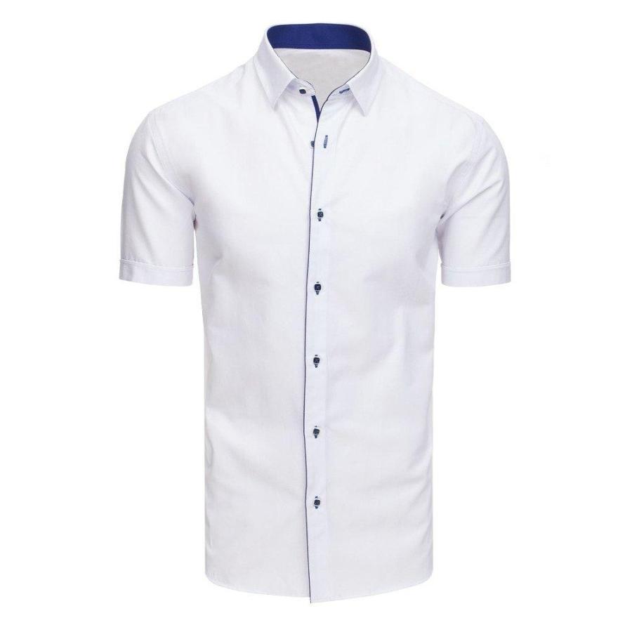 6f4bd2d3c38f Pánska elegantná košeľa s krátkym rukávom v bielej farbe. Loading zoom