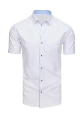 Biela elegantná košeľa s krátkym rukávom pre pánov