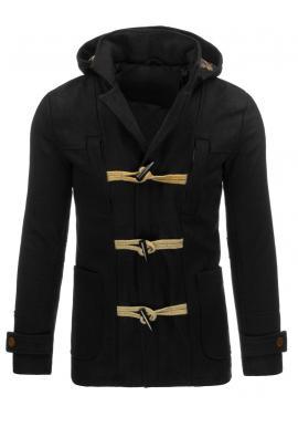 Pánska zimná bunda s kapucňou v tmavomodrej farbe