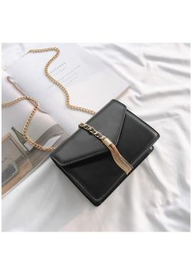 1dce49d3c6 Dámska elegantná kabelka so zlatými doplnkami v hnedej farbe ...