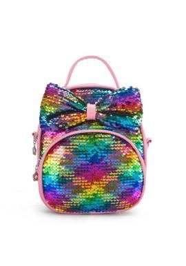 Štýlový detský ruksak čiernej farby s flitrami