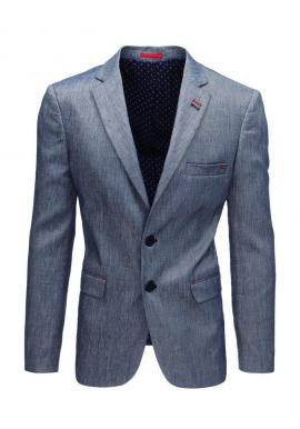 Béžové jednoradové sako v neformálnom štýle pre pánov