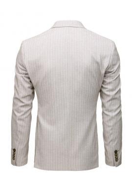 Tmavosivé neformálne sako s jedným gombíkom pre pánov