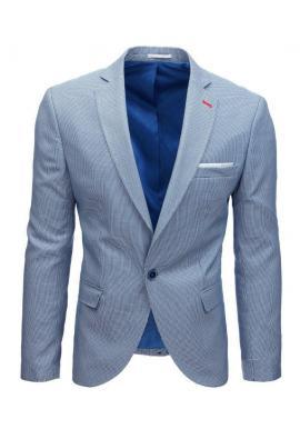 Jednoradové pánske sako béžovej farby s kockovaným vzorom