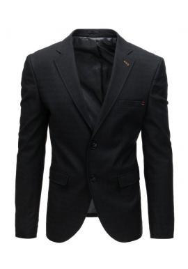 Pánske neformálne sako s jedným gombíkom v modrej farbe