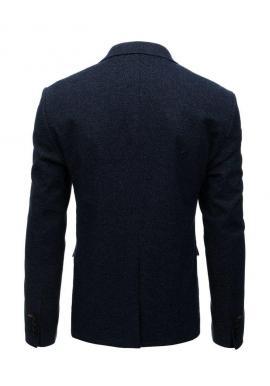 Neformálne pánske sako čiernej farby s kockovaným vzorom
