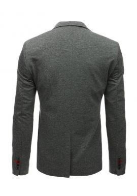 Modré neformálne sako s kockovaným vzorom pre pánov