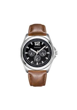 Pánske čierne hodinky Yazole s bielym ciferníkom