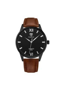 Elegantné pánske hodinky hnedej farby s čiernym ciferníkom
