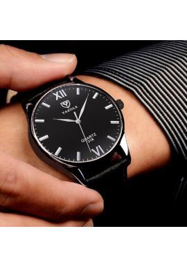 Hnedé elegantné hodinky s čiernym ciferníkom pre pánov
