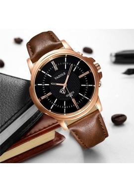1e10abf3d ... Čierne pánske hodinky Yazole na koženom remienku