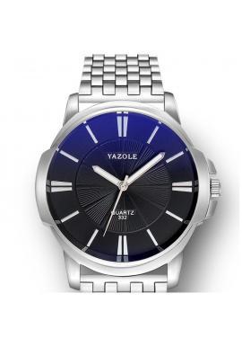 Pánske hodinky Yazole s čiernym ciferníkom v striebornej farbe