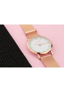 Módne dámske hodinky čiernej farby s kryštálmi