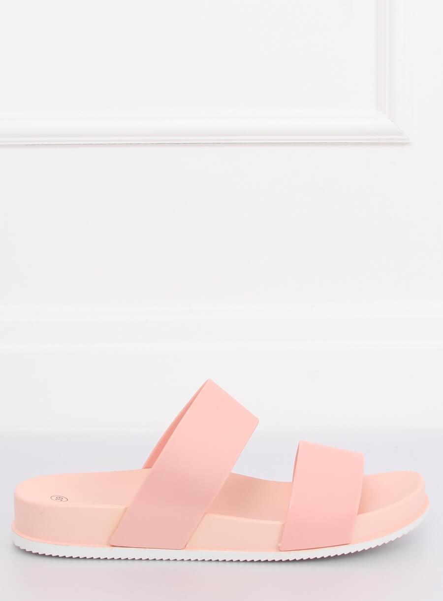 e22c73e86b9d8 Gumené dámske šľapky ružovej farby na pohodlnej podrážke - skvelamoda.sk