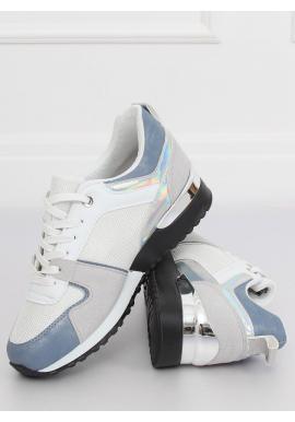 Športové dámske tenisky modrej farby s metalickými vložkami