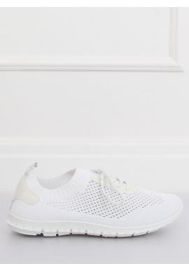 Biele športové tenisky s metalickými vložkami pre dámy