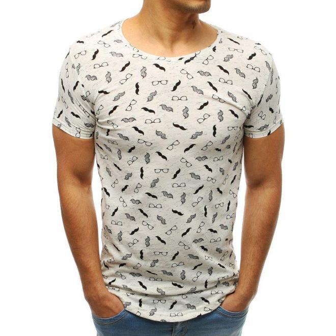 Biele módne tričko s motívom kotvy pre pánov