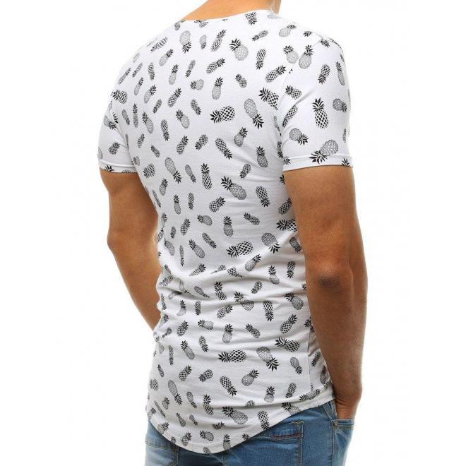 Pánske módne tričko s motívom kotvy v čiernej farbe