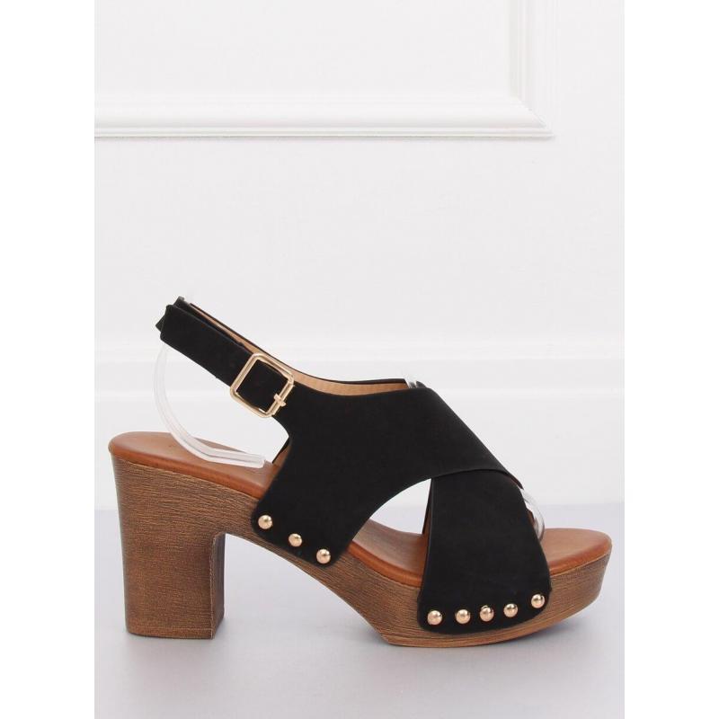 862065fdc2 Pohodlné dámske sandále čiernej farby na stabilnom opätku ...