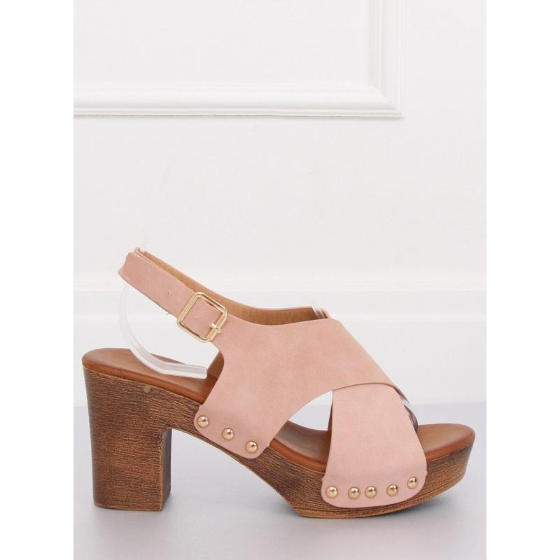 dceb35731d076 Ružové pohodlné sandále na stabilnom opätku pre dámy - skvelamoda.sk