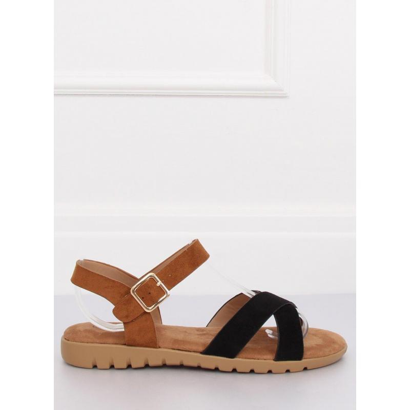 5c69ab016 Čierne semišové sandále na vysokej podrážke pre dámy